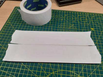 Paper and double sided tape