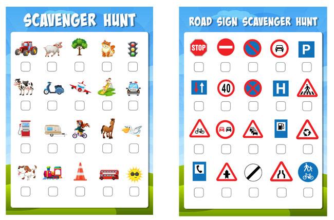 Printable scavenger hunts