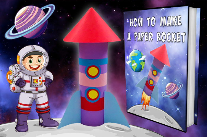 how to make a paper rocket ship