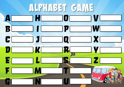 Free Printble Alphabet Game