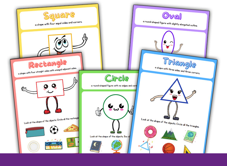 shape tracing worksheets learn shapes