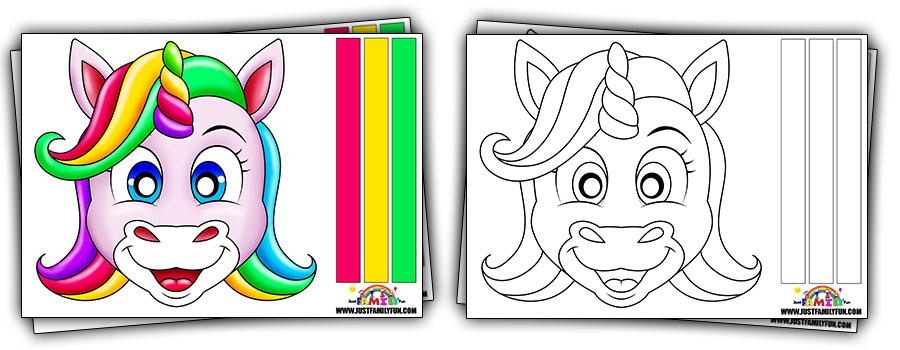 Printable Unicorn Mask Templates