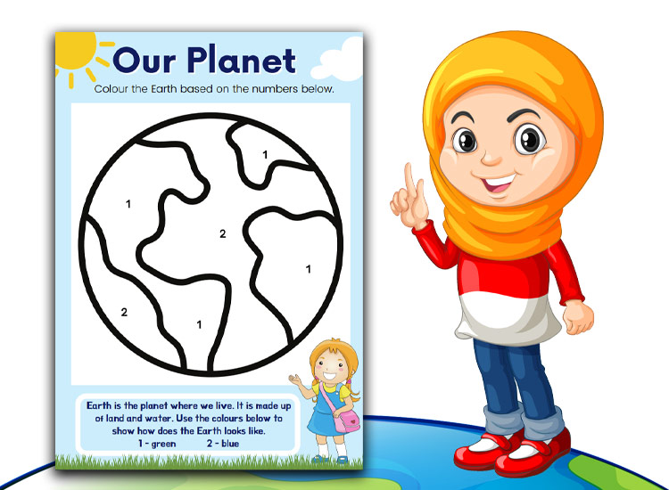 our planet worksheet