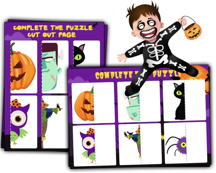 Halloween Activities match the imges