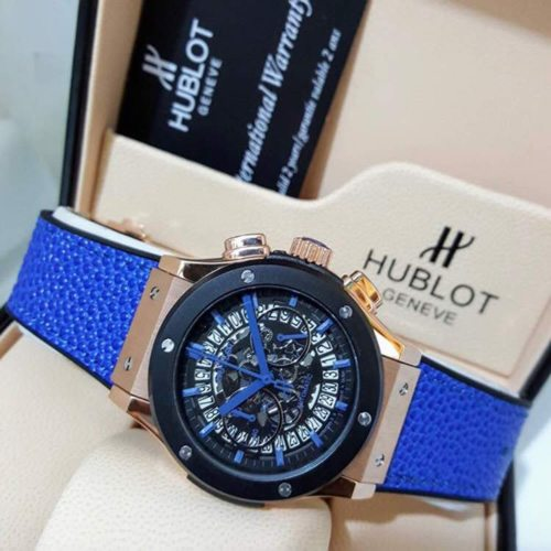 hublot geneve blue chronograph men 39 s watch justfantastic. Black Bedroom Furniture Sets. Home Design Ideas