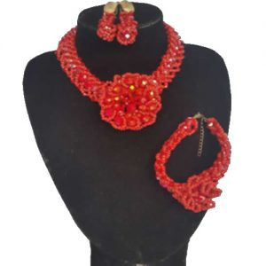 CARPET DESIGN BEAD NECKLACE SET
