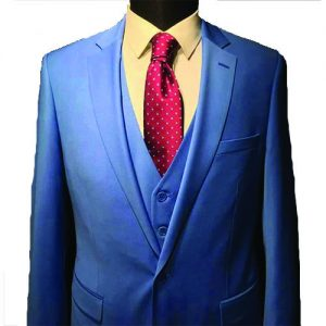 Marcel Italian Blue Regular Fit 3piece Men's Suit