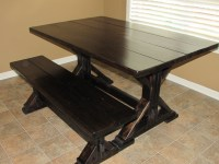 CUSTOM SQUARE FARMHOUSE FARM TABLE w/ MATCHING BENCHES ...