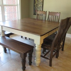 Farm House Chairs Chairing A Meeting Custom Square Farmhouse Table W Matching Benches