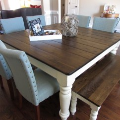 Farmers Dining Table And Chairs Barber For Sale In Chicago Square Farmhouse Matching Bench Just Fine Tables
