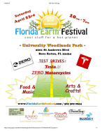 Wordpress Florida Earth Festival FEF Flyer 2016