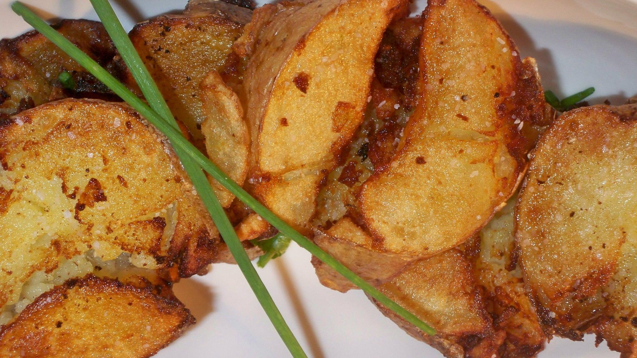 "Rustic ""Hammered"" Potatoes"