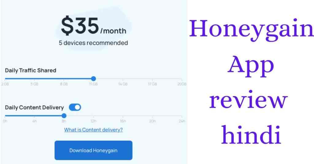 Honeygain app review in hindi