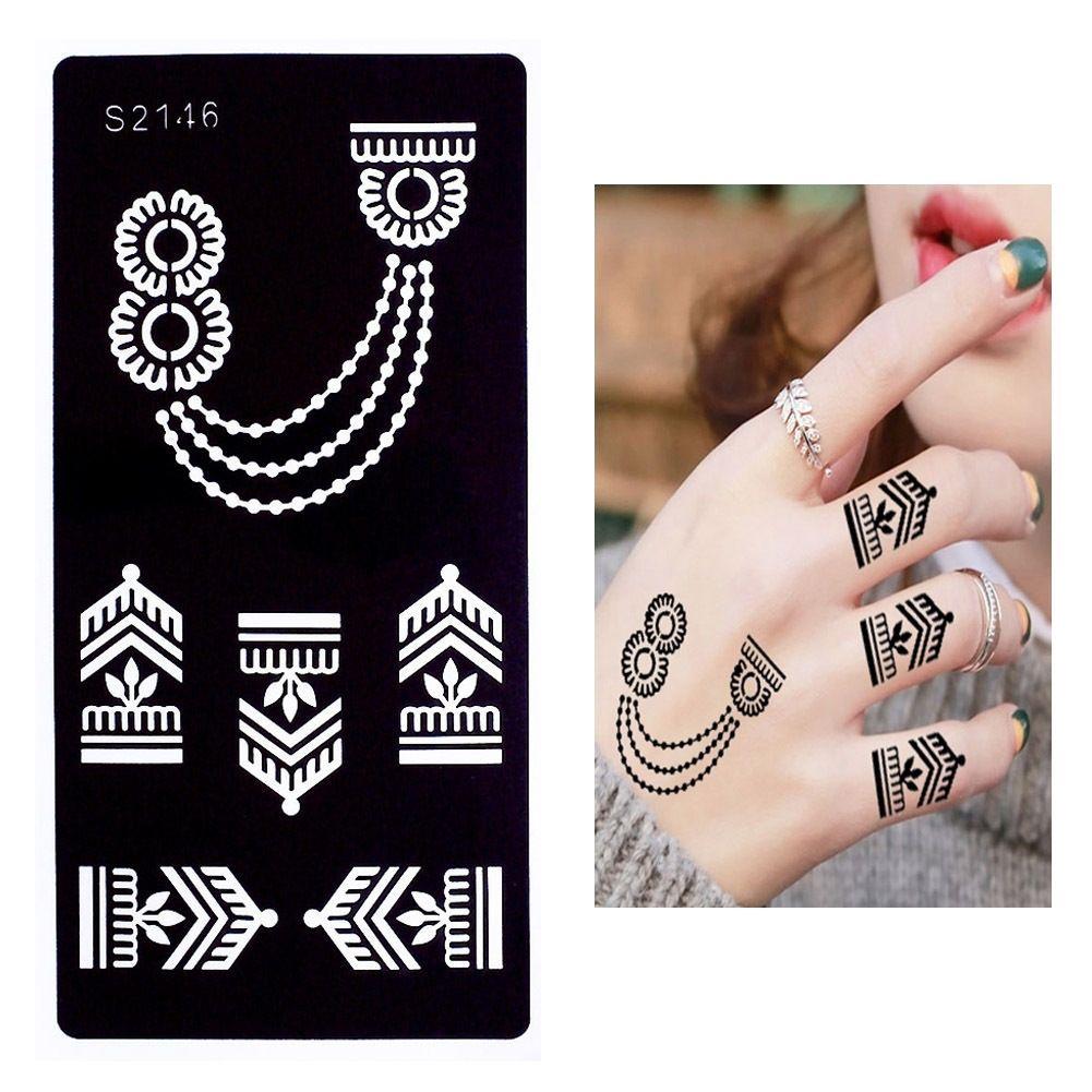 Blume Einfach Henna Tattoo Hand