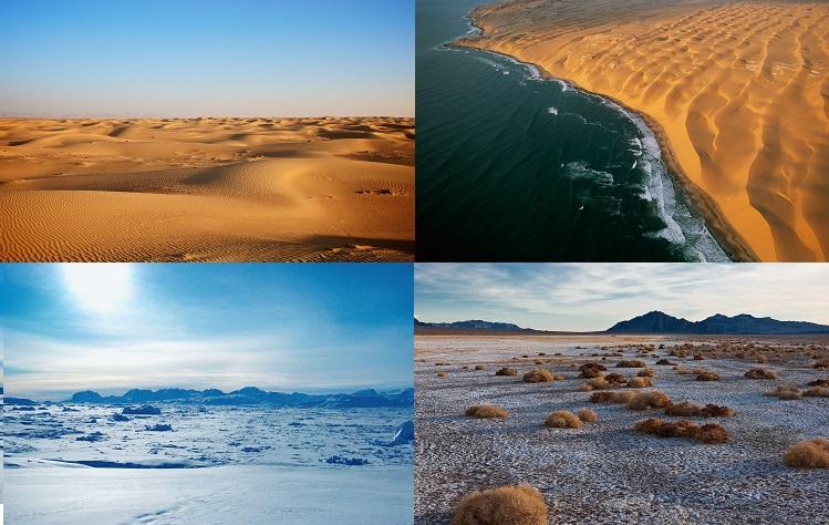 katër lloje të shkretëtirës