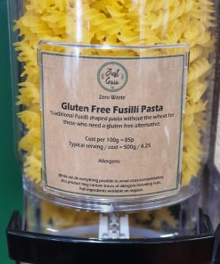 Gluten Free Fusilli Pasta in the Just Gaia zero waste grocery in Halifax, West Yorkshire
