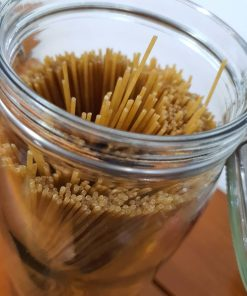 Organic Spaghetti Pasta (wholewheat) in the Just Gaia zero waste grocery in Halifax, West Yorkshire