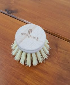 Detachable Wooden Cleaning Brush replacement head in Just Gaia