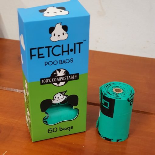 Fetch-It compostable poo bags at Just Gaia