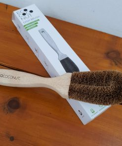Coconut dish brush out of its box