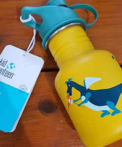 Children's stainless steel water bottle from Klean Kanteen in dragon design