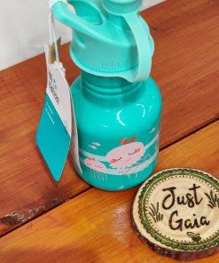 Children's stainless steel water bottle from Klean Kanteen in Jellyfish design standing