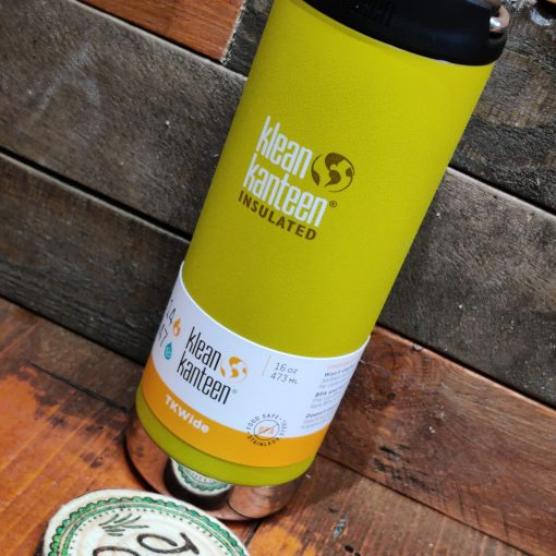 Klean Kanteen 16oz large insulated coffee cup in yellow curry