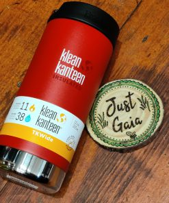Klean Kanteen 12oz TKWide Insulated coffee cup in post box red