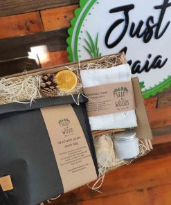 Hot Cloth Cleanser Gift Set in gift box at Just Gaia
