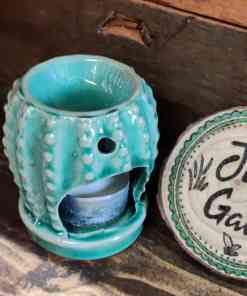 Cactus Essential Oil burner gift set at Just Gaia cactus burner and tea light at Halifax, UK