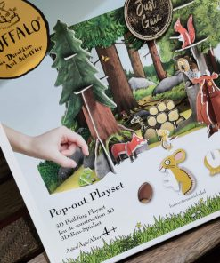Plastic Free Official Gruffalo Playset in the Just Gaia Children's toys range at Just Gaia. Alt front view of the box.