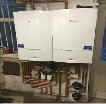commercial gas boiler in paint