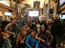 The whole crew at Breck Brew