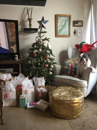she wrapped the gifts herself