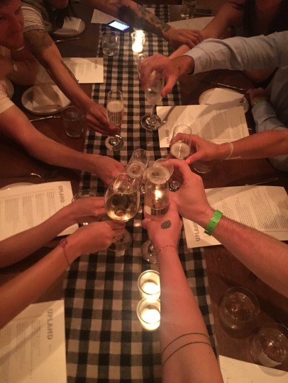 Cheers to the best friends ever and an amazing dinner at Upland