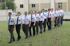 The Americans in my Ghana MTC group (I am the smiley one, seventh in the line).
