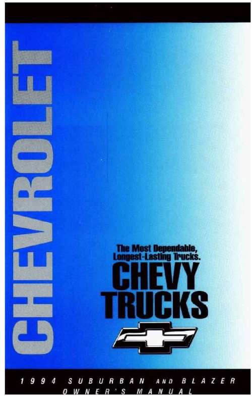 small resolution of 1994 chevrolet suburban owner s manual