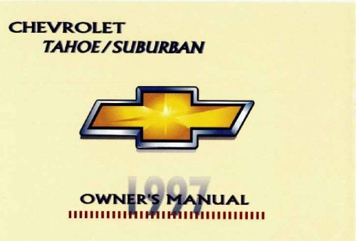 small resolution of 1997 chevrolet tahoe owner s manual