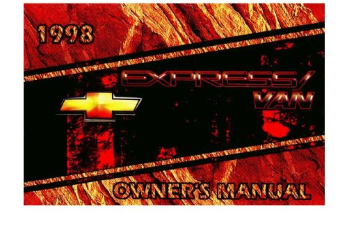small resolution of 1998 chevrolet express owner s manual