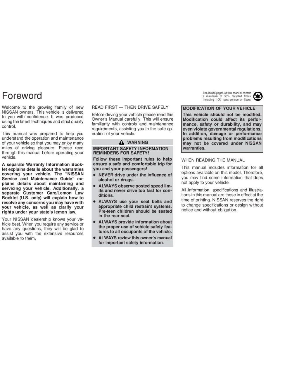 medium resolution of 2002 nissan altima owner s manual