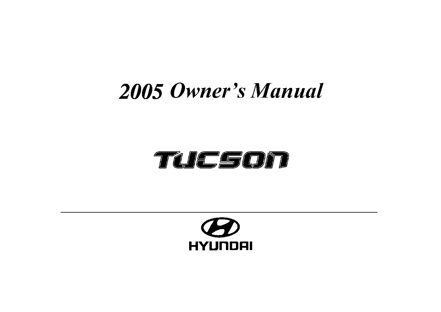 HYUNDAI TUCSON REPAIR MANUAL FREE