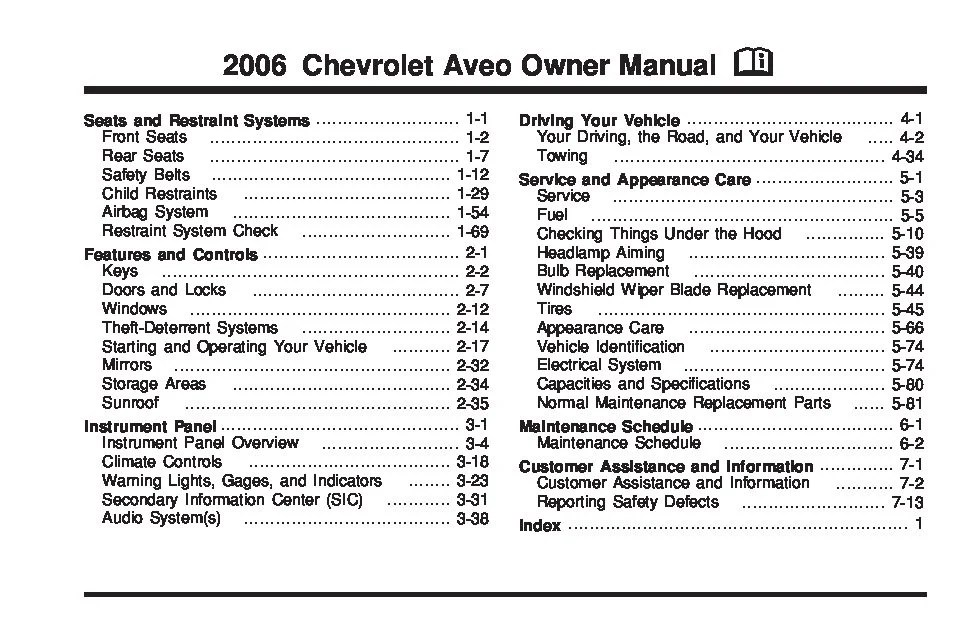 2010 Chevy Malibu Engine Diagram 2006 Chevrolet Aveo Owners Manual Just Give Me The Damn