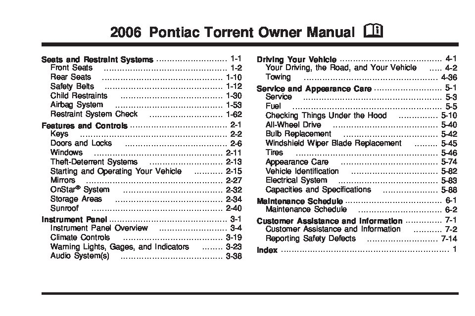 2010 Corvette Fuse Box Diagram 2006 Pontiac Torrent Owners Manual Just Give Me The Damn