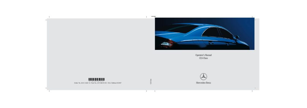 medium resolution of 2007 mercedes benz cls class owner s manual