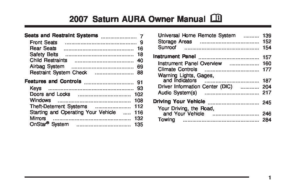 2008 saturn aura warning lights www lightneasy net rh lightneasy net 2007 saturn aura xe repair manual 2007 Saturn Aura Xe Problems