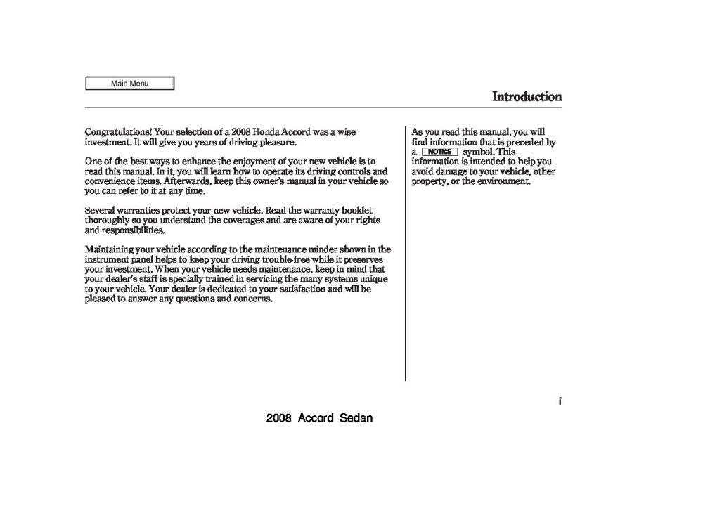 medium resolution of 2008 honda accord sedan owner s manual
