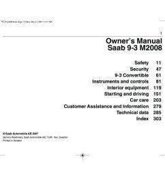 2008 saab 9 3 owner s manual [ 1497 x 1058 Pixel ]
