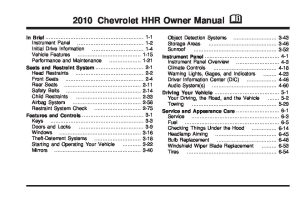 2010 chevrolet hhr Owners Manual | Just Give Me The Damn Manual