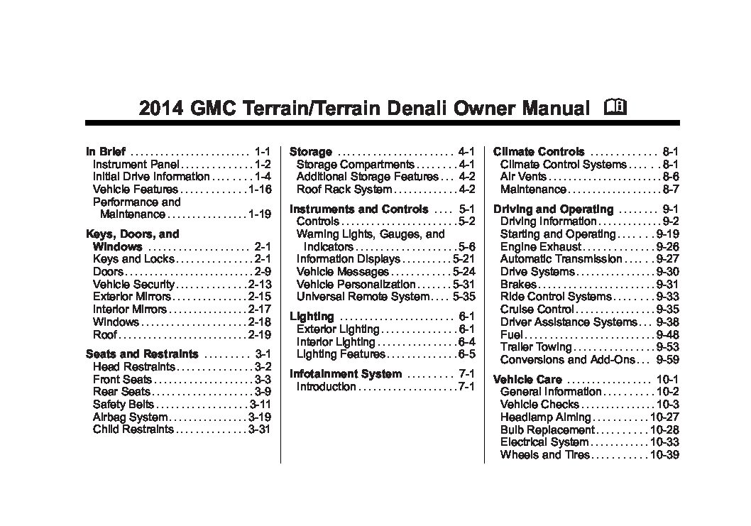 2005 Volvo Xc90 Wiring Diagram 2010 Gmc Terrain Owners Manual Just Give Me The Damn Manual