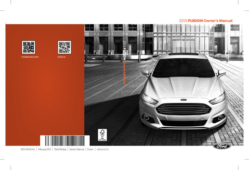 medium resolution of 2013 ford fusion owner s manual